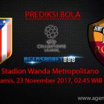 Prediksi Bola Atletico Madrid vs Roma 23 November 2017