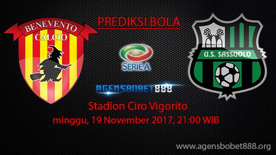 Prediksi Bola Benevento vs Sassuolo 19 November 2017