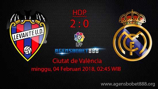 Prediksi Bola Levante vs Real Madrid 4 Februari 2018