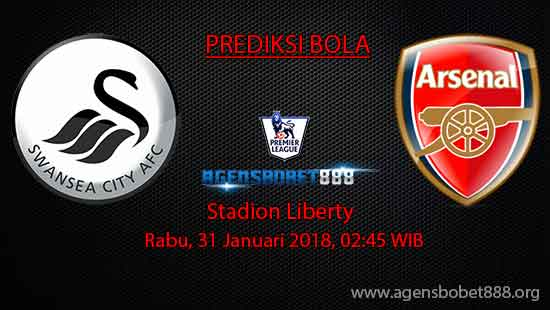 Prediksi Bola Swansea City vs Arsenal 31 Januari 2018