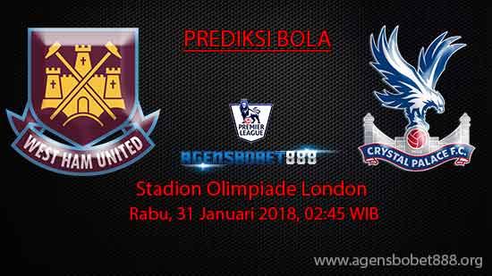 Prediksi Bola West Ham United vs Crystal Palace 31 Januari 2018