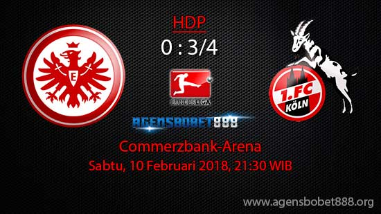 Prediksi Bola Eintracht Frankfurt vs FC Cologne 10 Februari 2018